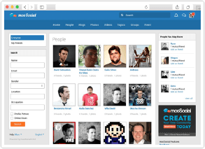 social network software event small