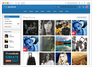 social network software photo page