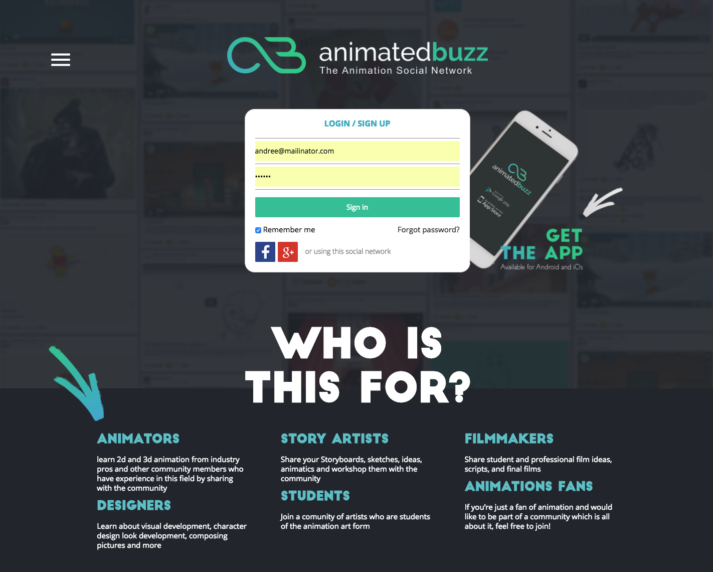 The Animation Social Network