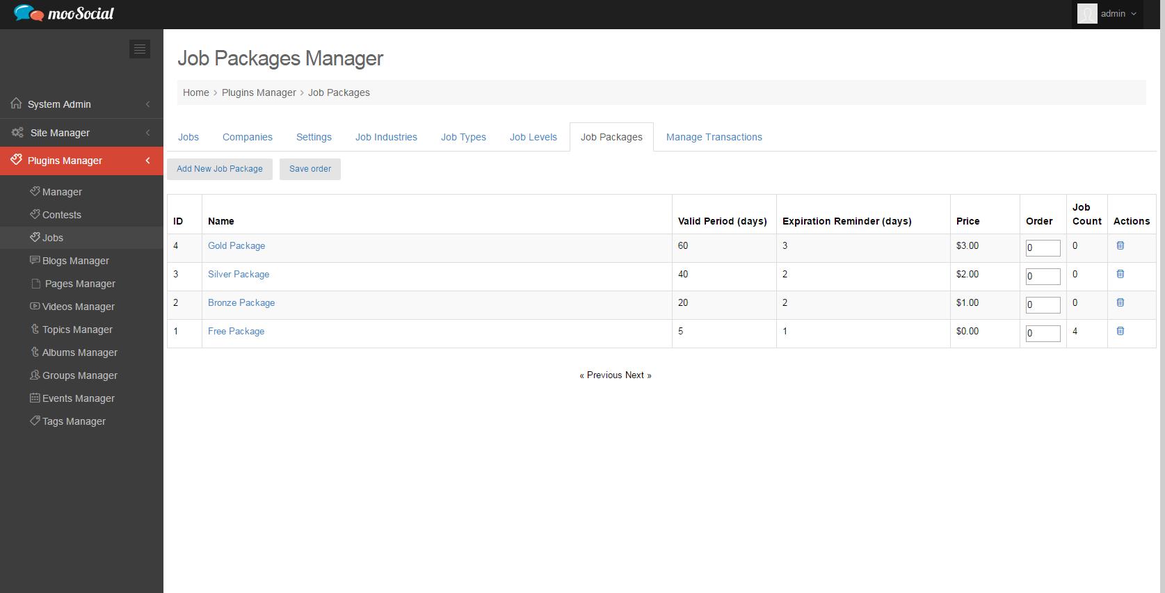 job manager plugin